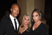 (L-R) Model Jeremy Meeks, Lady Tina Green, and Chloe Green attend 2017 Princess Grace Awards Gala at The Beverly Hilton Hotel on October 25, 2017 in Beverly Hills, California.