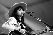 This image has been converted to black and white.) Singer Nikki Lane performs on the Mustang Stage during day 2 of 2017 Stagecoach California's Country Music Festival at the Empire Polo Club on April 29, 2017 in Indio, California.