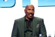 Host/executive producer Steve Harvey of 'STEVE' speaks onstage during the NBCUniversal portion of the 2017 Summer Television Critics Association Press Tour at The Beverly Hilton Hotel on August 3, 2017 in Beverly Hills, California.