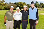 (L-R) Evan Hainey, Gene Peterson, Erik Lang and Craig T. Nelson attend 2017 Swing for Kids Golf Tournament benefitting Orthopaedic Institute for Children on November 6, 2017 in Palos Verdes Estates, California.