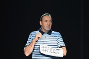 Host Kevin Spacey performs onstage during the 2017 Tony Awards at Radio City Music Hall on June 11, 2017 in New York City.