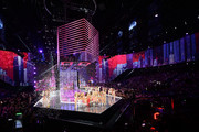 The 2017 Victoria's Secret models pose on the runway at the end of the 2017 Victoria's Secret Fashion Show In Shanghai at Mercedes-Benz Arena on November 20, 2017 in Shanghai, China.