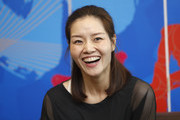 Li Na of China speaks to foreign press at 2017 Wuhan Open on September 28, 2017 in Wuhan, China.