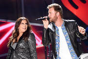Singers Hillary Scott and Charles Kelley of Lady Antebellum perform onstage during the 2017 iHeartCountry Festival, A Music Experience by AT&T at The Frank Erwin Center on May 6, 2017 in Austin, Texas.