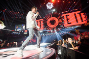 Louis Tomlinson performs onstage during the 2017 iHeartRadio Music Festival at T-Mobile Arena on September 23, 2017 in Las Vegas, Nevada.