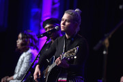 "Songwriter/Songwriters Andrea Martin, Prince Charlez and Amy Kuney perform onstage at the '13th Annual Writers Jam' during The 2018 ASCAP ""I Create Music"" EXPO at Loews Hollywood Hotel on May 9, 2018 in Hollywood, California."