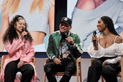 """Ella Mai, Kane Brown and Normani speak onstage during The """"2018 American Music Awards"""" Nominations at YouTube Space LA on September 12, 2018 in Los Angeles, California."""