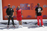 (L-R) Kai Ca$h, Bay Swag and Christian Combs attend the 2018 BET Awards at Microsoft Theater on June 24, 2018 in Los Angeles, California.