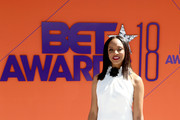 MC Lyte attends the 2018 BET Awards at Microsoft Theater on June 24, 2018 in Los Angeles, California.