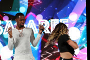 Safaree Samuels (L) performs onstage at  BETHer Presents Fashion & Beauty during the 2018 BET Experience at Los Angeles Convention Center on June 23, 2018 in Los Angeles, California.