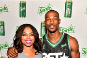 Jemele Hill (L) and Chris Staples pose at the Celebrity Basketball Game Sponsored By Sprite during the 2018 BET Experience at Los Angeles Convention Center on June 23, 2018 in Los Angeles, California.