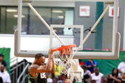 The Game (L, below) and Chris Staples play basketball at the Celebrity Basketball Game Sponsored By Sprite during the 2018 BET Experience at Los Angeles Convention Center on June 23, 2018 in Los Angeles, California.