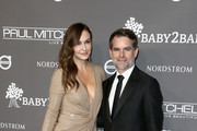 Ingrid Vandebosch (L) and Jeff Gordon attend the 2018 Baby2Baby Gala Presented by Paul Mitchell at 3LABS on November 10, 2018 in Culver City, California.