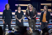 Juan Calleros,  Alex Gonzalez, Fher Olvera and Sergio Vallin of Mana onstage at the 2018 Billboard Latin Music Awards at the Mandalay Bay Events Center on April 26, 2018 in Las Vegas, Nevada.