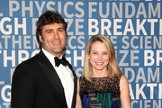 Entrepreneur Zachary Bogue (L) and information technology executive Marissa Mayer attend the 2018 Breakthrough Prize at NASA Ames Research Center on December 3, 2017 in Mountain View, California.