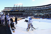 Robin Lehner #40 of the Buffalo Sabres leaves the ice after warmups prior to the game against the New York Rangers during the 2018 Bridgestone NHL Winter Classic at Citi Field on January 1, 2018 in the Flushing neighborhood of the Queens borough of New York City. The Rangers defeated the Sabres 3-2 in overtime.
