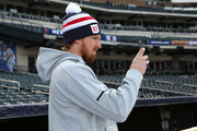 Marc Staal #18 of the New York Rangers looks on during practice for the 2018 Bridgestone NHL Winter Classic at Citi Field on December 31, 2017 in Queens, NY.