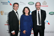 (L-R) BAFTA COO Kevin Price, BAFTA Chair of the Academy Pippa Harris, and BAFTA Los Angeles COO Matthew Wiseman attend the 2018 British Academy Britannia Awards presented by Jaguar Land Rover and American Airlines at The Beverly Hilton Hotel on October 26, 2018 in Beverly Hills, California.