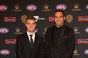 Tom Papley and Josh Kennedy of the Swans arrives ahead of the 2018 Brownlow Medal at Crown Entertainment Complex on September 24, 2018 in Melbourne, Australia.