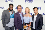 (L-R) Actors Stephen Hill, Zachary Knighton, Perdita Weeks and Jay Hernandez attend the 2018 CBS Upfront at The Plaza Hotel on May 16, 2018 in New York City.