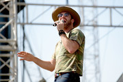(EDITORIAL USE ONLY) Singer-songwriter Drake White performs during the 2018 CMA Music festival at the Chevy Riverfront Stage on June 7, 2018 in Nashville, Tennessee.
