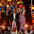 Hillary Scott Photos - Kirk Franklin, Tori Kelly and Hillary Scott of musical group Lady Antebellum perform onstage during the 2018 CMT Artists of The Year at Schermerhorn Symphony Center on October 17, 2018 in Nashville, Tennessee. - 2018 CMT Artists Of The Year - Inside