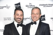 """Jimmy Kimmel and Bob Iger attend the 2018 Children's Hospital Los Angeles """"From Paris With Love"""" Gala at LA Live on October 20, 2018 in Los Angeles, California."""
