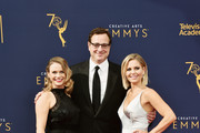Actors (L-R) Andrea Barber, Bob Saget and Candace Cameron Bure attend the 2018 Creative Arts Emmy Awards at Microsoft Theater on September 8, 2018 in Los Angeles, California.
