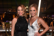 Andrea Barber and Candace Cameron Bure attend the 2018 Creative Arts Emmys Ball on September 8, 2018 in Los Angeles, California.