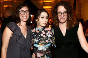 (L-R) Carly Mensch, Cristin Milioti and Liz Flahive attend the 2018 Creative Arts Emmy Awards Netflix After Party at redbird on September 9, 2018 in Los Angeles, California.