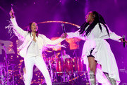 MC Lyte and Brandy perform onstage during the 2018 Essence Festival presented By Coca-Cola - Day 2 at Louisiana Superdome on July 7, 2018 in New Orleans, Louisiana.