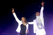 MC Lyte and Teddy Riley perform onstage during the 2018 Essence Festival presented by Coca-Cola - Day 3 at Louisiana Superdome on July 7, 2018 in New Orleans, Louisiana.