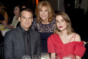 Actor Michael C. Hall, Carol Leifer, and Critic Morgan Macgregor attend the 2018 Farm Sanctuary on the Hudson gala at Pier 60 on October 4, 2018 in New York City.