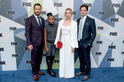(L-R) Mark-Paul Gosselaar, Saniyya Sidney, Brianne Howey, and Vincent Piazza attend the 2018 Fox Network Upfront at Wollman Rink, Central Park on May 14, 2018 in New York City.