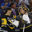 Kris Letang and Marc-Andre Fleury