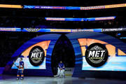 {L-R} Josh Bailey #12 of the New York Islanders and Henrik Lundqvist #30 of the New York Rangers  prior to the 2018 GEICO NHL All-Star Skills Competition at Amalie Arena on January 27, 2018 in Tampa, Florida.