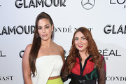 Ashley Graham (L) and Glamour Editor-in-Chief Samantha Barry attend the 2018 Glamour Women Of The Year Awards: Women Rise on November 12, 2018 in New York City.