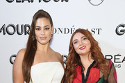 Ashley Graham and Glamour Editor-in-Chief Samantha Barry attends the 2018 Glamour Women Of The Year Awards: Women Rise on November 12, 2018 in New York City.