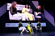 "(L-R) Savannah Guthrie, Mindy Kaling and Hoda Kotb speak onstage during ""Closing The Dream Gap: Showing Girls (and Ourselves) What's Next"" panel at 2018 Glamour Women Of The Year Summit:  Women Rise at Spring Studios on November 11, 2018 in New York City."