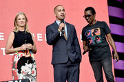 (L-R) Kerry Kennedy, Ismael Nazario, and Nancy Sicardo speak onstage during the 2018 Global Citizen Festival: Be The Generation in Central Park on September 29, 2018 in New York City.