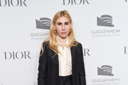 Zosia Mamet attends the 2018 Guggenheim International Gala Pre-Party made possible by Dior at Solomon R. Guggenheim Museum on November 14, 2018 in New York City.