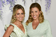 Actors Candace Cameron Bure (L) and Jodi Sweetin attend the 2018 Hallmark Channel Summer TCA at a private residence on July 26, 2018 in Beverly Hills, California.