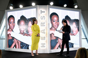 Ashley Graham and Elle Magazine Creative Director Stephen Gan speak onstage during the 2018 Hearst MagFront on October 17, 2018 in New York City.