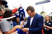 Brayden Schenn #10 of the St Louis Blues arrives on the red carpet prior to the 2018 Honda NHL All-Star Game at Amalie Arena on January 28, 2018 in Tampa, Florida.