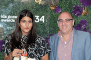 Jayisha Patel, winner of the David L. Wolper Student Award, poses with Willie Garson during the 2018 IDA Documentary Awards on December 8, 2018 in Los Angeles, California.