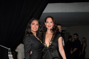 Actor Salma Hayek (L) and Ashley Judd attend the 2018 InStyle and Warner Bros. 75th Annual Golden Globe Awards Post-Party at The Beverly Hilton Hotel on January 7, 2018 in Beverly Hills, California.