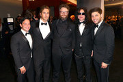 (L-R) Executive Producer Scott Neustadter, Actors Greg Sestero, Seth Rogen, and Tommy Wiseau, and Executive Producer Michael H. Weber attend the 2018 InStyle and Warner Bros. 75th Annual Golden Globe Awards Post-Party at The Beverly Hilton Hotel on January 7, 2018 in Beverly Hills, California.