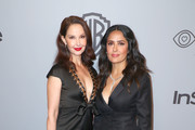Actors Ashley Judd (L) and Salma Hayek attend the 2018 InStyle and Warner Bros. 75th Annual Golden Globe Awards Post-Party at The Beverly Hilton Hotel on January 7, 2018 in Beverly Hills, California.