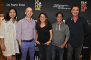 Adele Lim, Paul Cowling, Nicole Holofcener, Scott Neustadter, Steven Rogers attend the 2018 LA Film Festival - Coffee Talks: Screenwriters at Wallis Annenberg Center for the Performing Arts on September 22, 2018 in Beverly Hills, California.