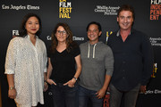 Screenwriters Adele Lim,Nicole Holofcener, Scott Neustadter, Steven Rogers attend the 2018 LA Film Festival - Coffee Talks: Screenwriters at Wallis Annenberg Center for the Performing Arts on September 22, 2018 in Beverly Hills, California.